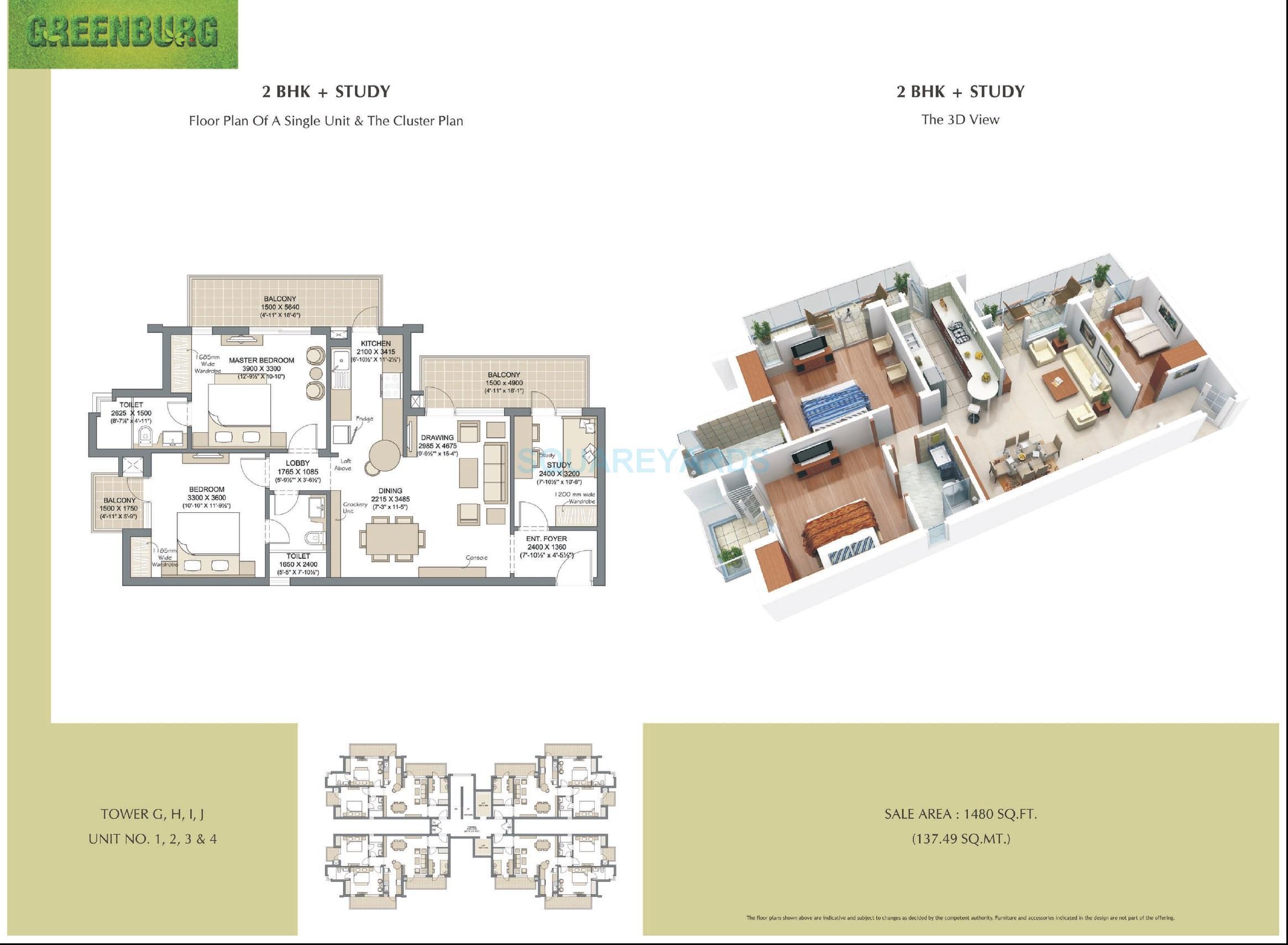 microtek greenburg apartment 2bhk st 1480sqft 1