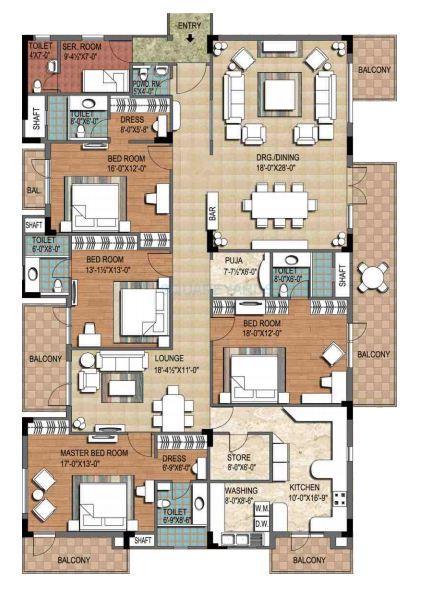 ninex city apartment 4bhk block b 4055sqft 1