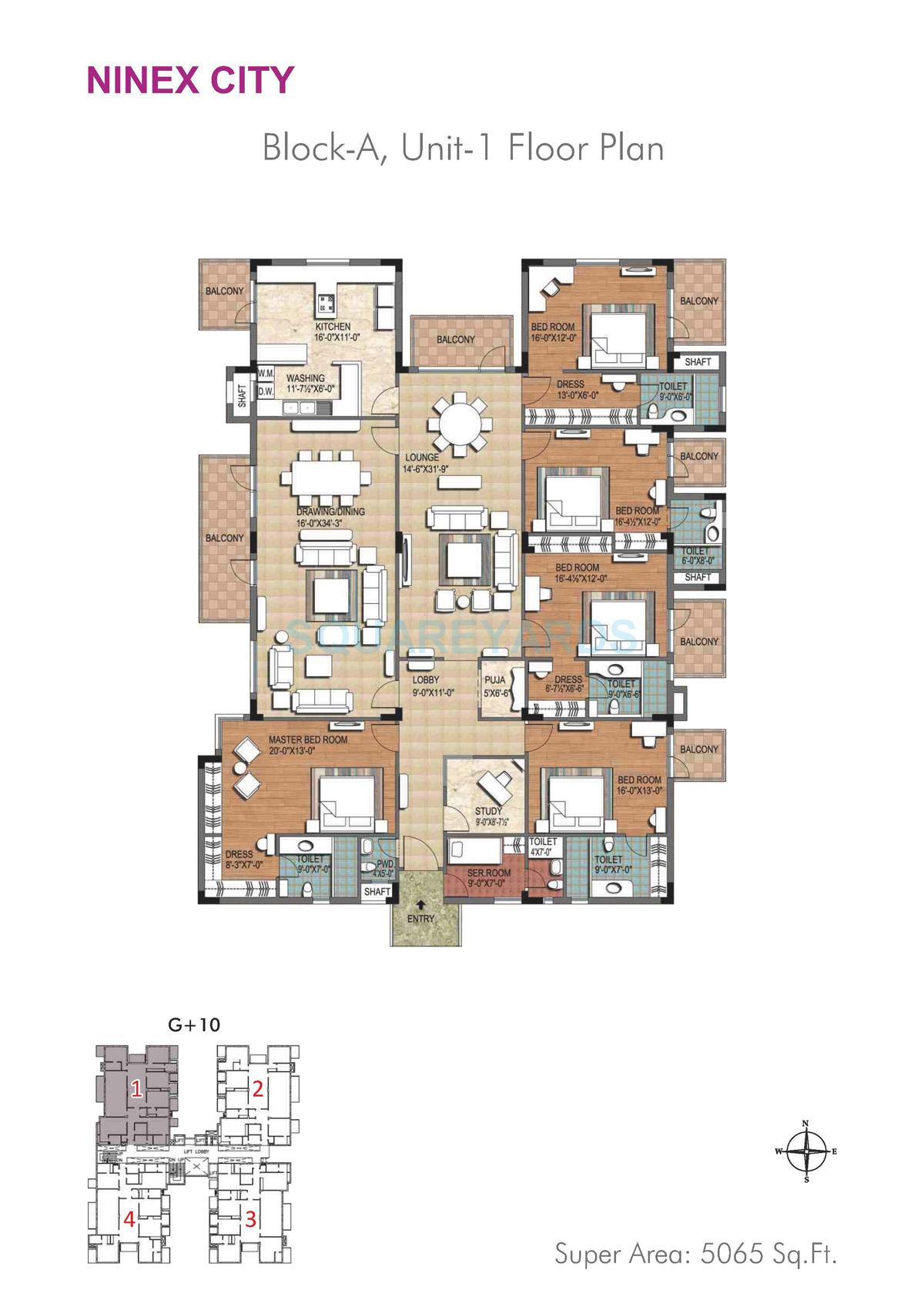 ninex city apartment 5bhk block a 5065sqft 1