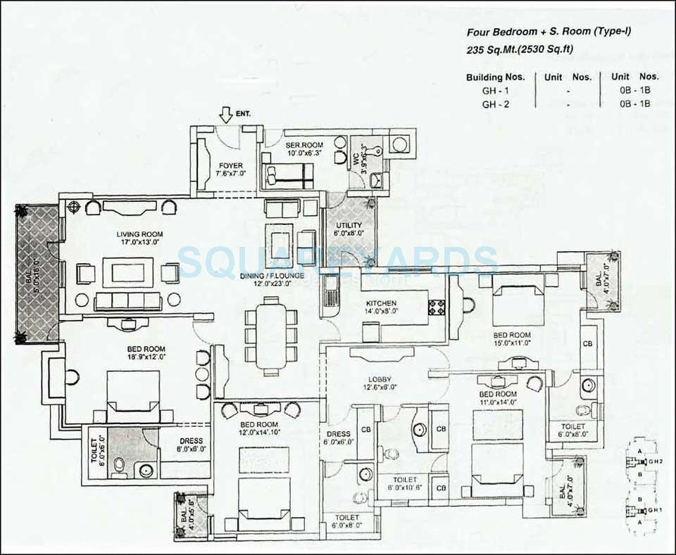 orchid gardens apartment 4bhk 2530sqft 1
