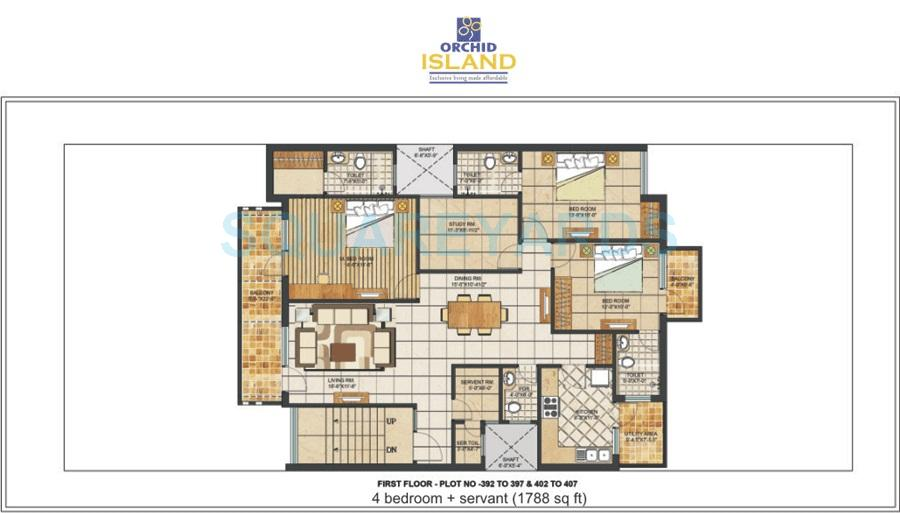 orchid island apartment 4bhk sq typical floor 1788sqft 1