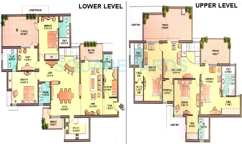 5 Bhk 4000 Sq Ft Penthouse For Sale In Orchid Petals At