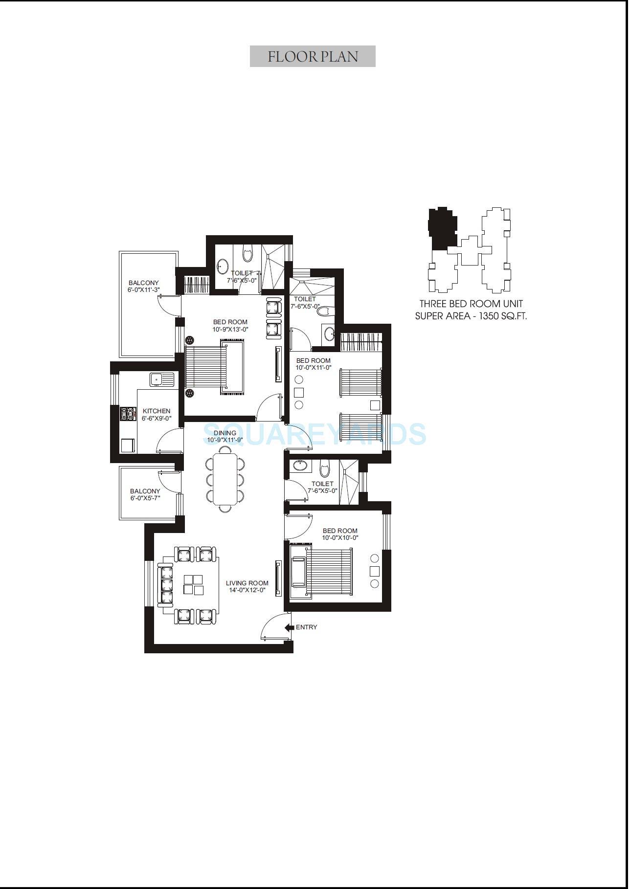 orris aster court apartment 2bhk 1350sqft 1