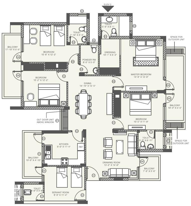 orris aster court premier apartment 4bhk sq 1513sqft 1