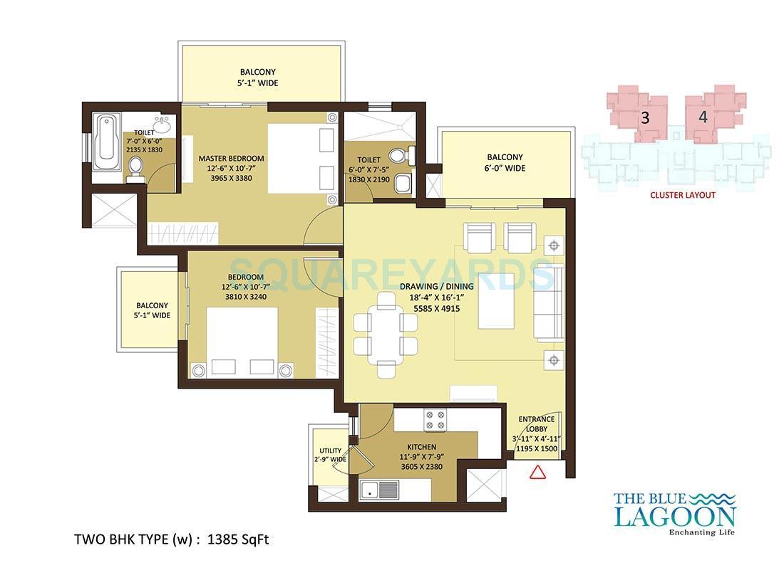 orris the blue lagoon apartment 2bhk 1385sqft 1