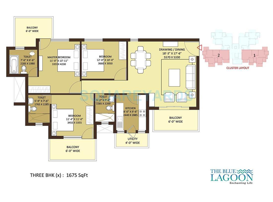 orris the blue lagoon apartment 3bhk 1675sqft 1