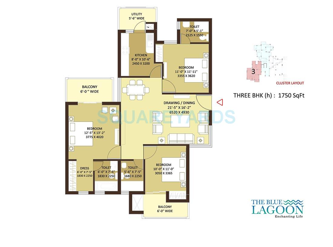 orris the blue lagoon apartment 3bhk 1750sqft 1