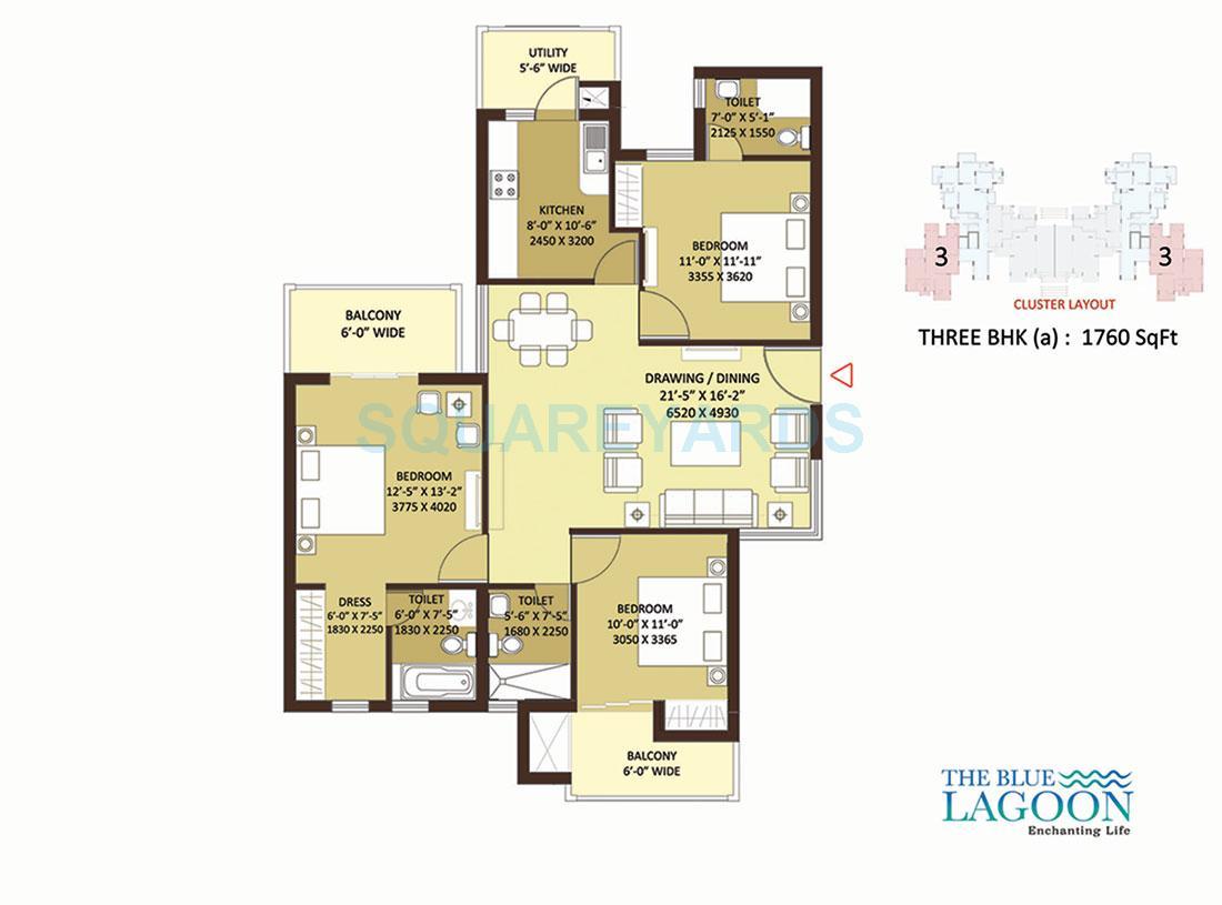 orris the blue lagoon apartment 3bhk 1760sqft 1
