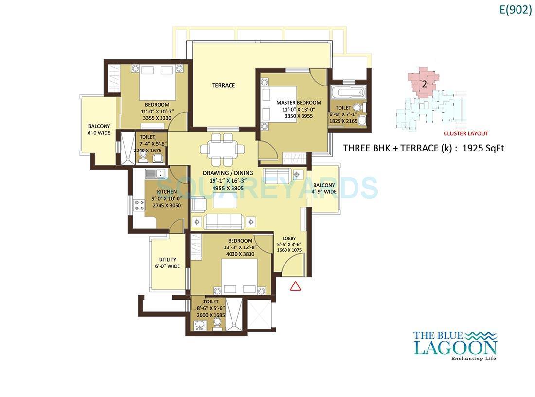 orris the blue lagoon apartment 3bhk 1925sqft 1