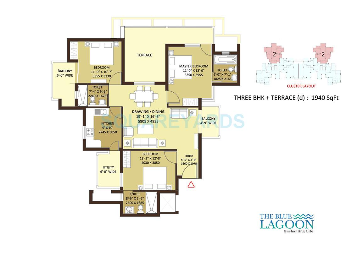 orris the blue lagoon apartment 3bhk 1940sqft 1