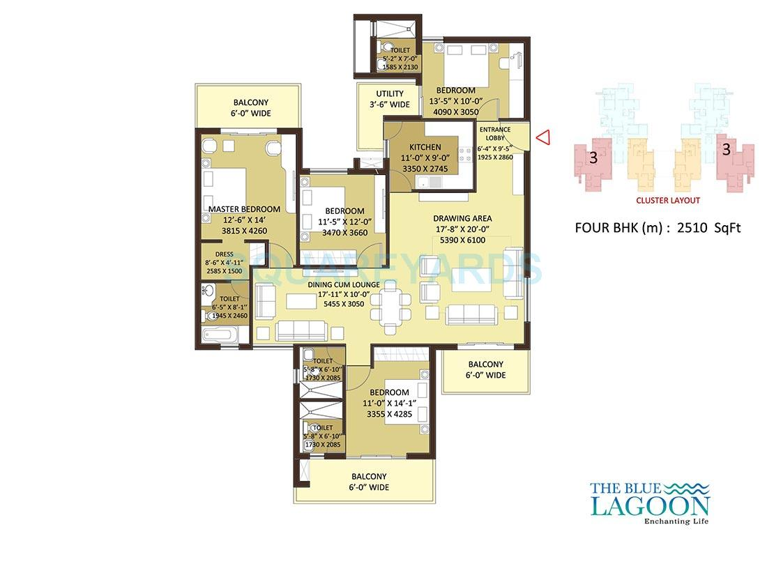 orris the blue lagoon apartment 4bhk 2510sqft 1