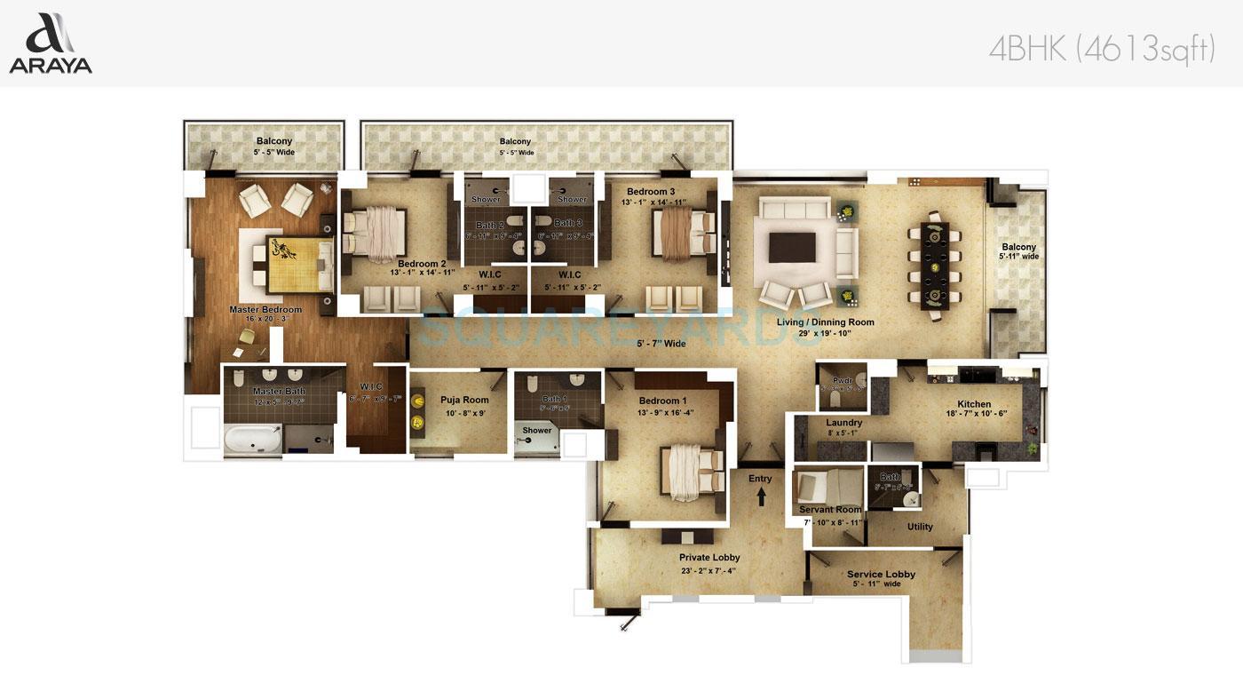 pioneer park araya apartment 4bhk 4613sqft 1
