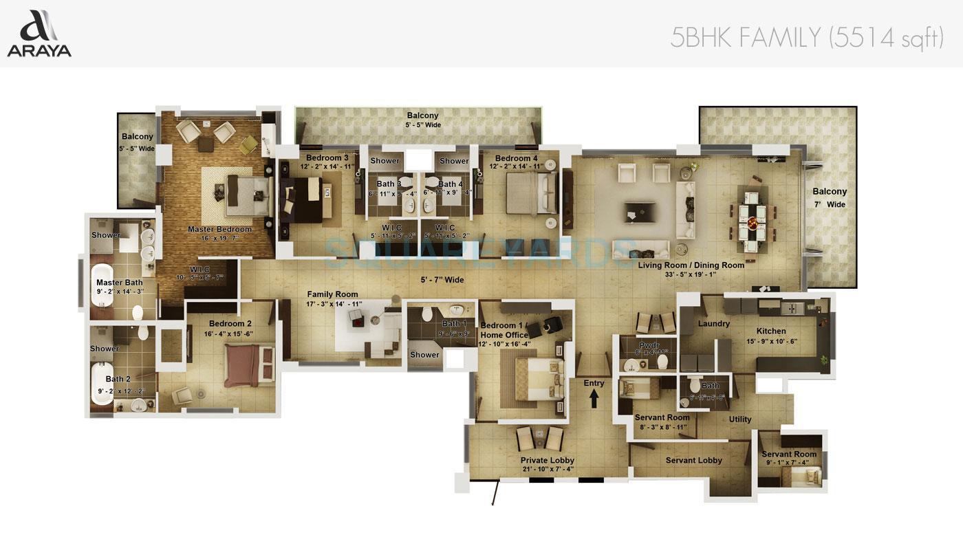 Pioneer Park Gurgaon Floor Plan Pioneer Park Araya In Sector 62 Gurgaon Project