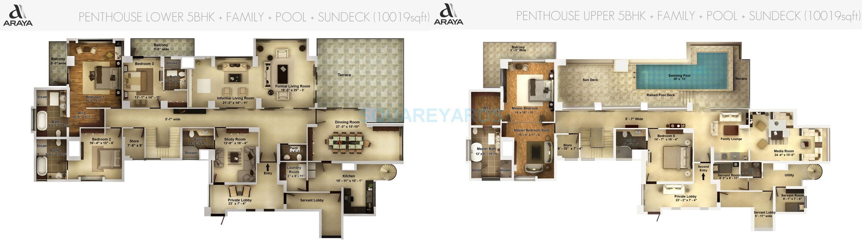 pioneer park araya penthouse 5bhk family pool 10019sqft 1