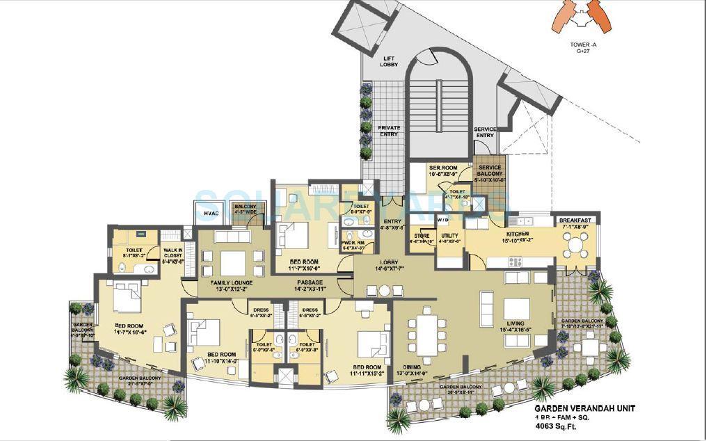 pioneer park presidia apartment 4bhk sq fam 4063sqft 1