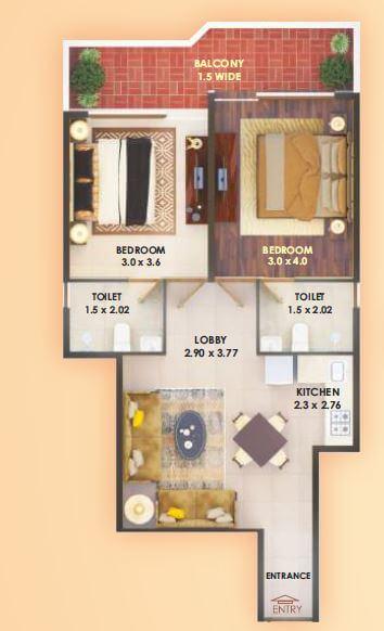 pyramid elite apartment 2bhk 572sqft 1
