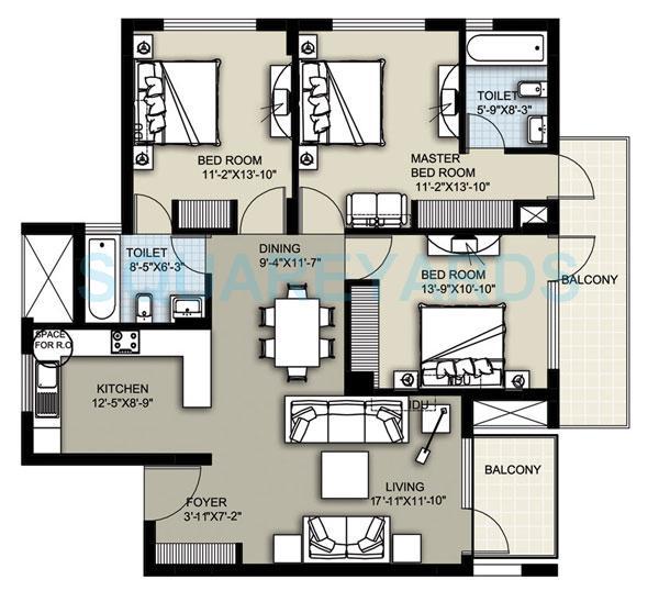 raheja atharva apartment 3bhk 1640sqft 1