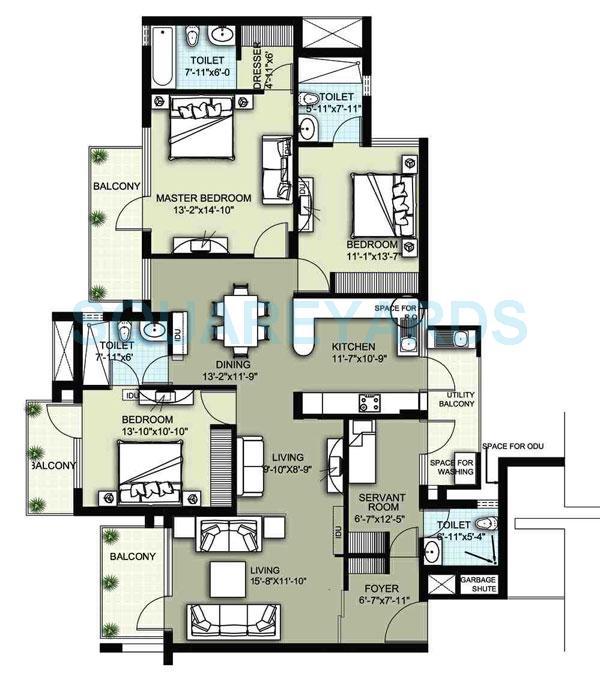 raheja atharva apartment 3bhk 2251sqft 1