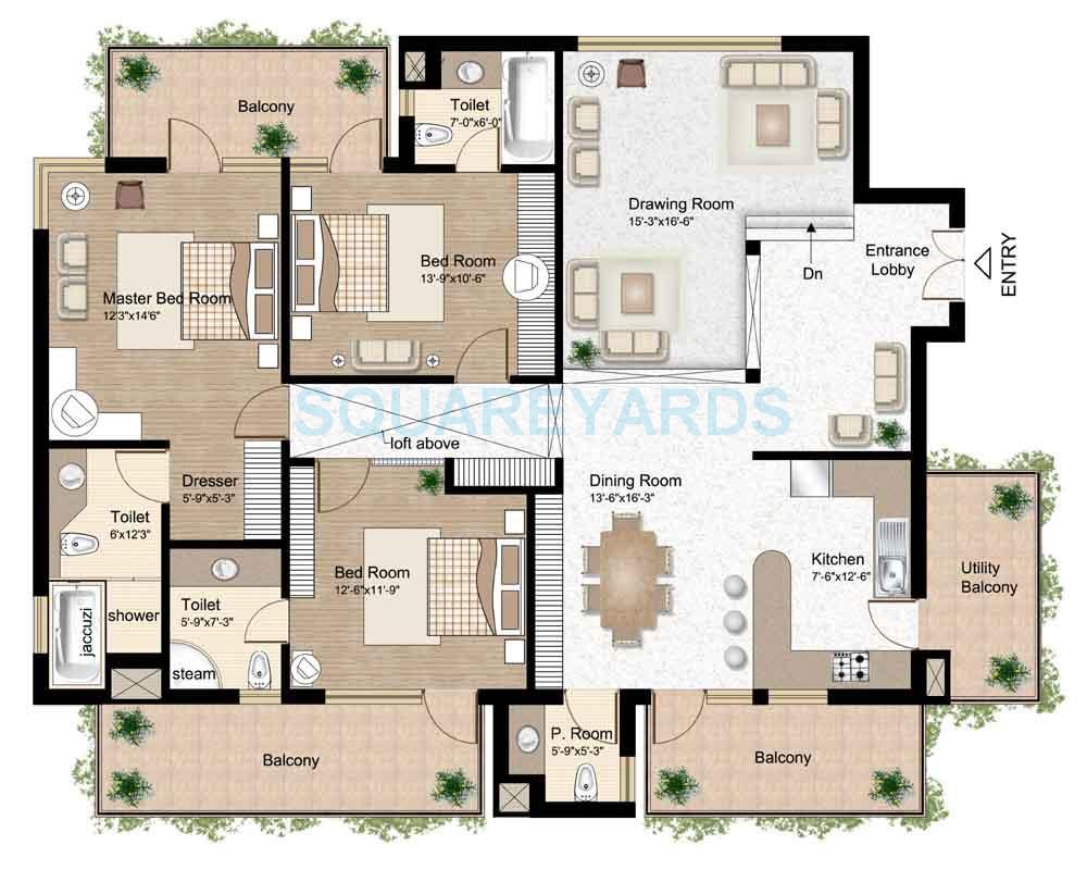 raheja atlantis apartment 3bhk sq 2168sqft 1