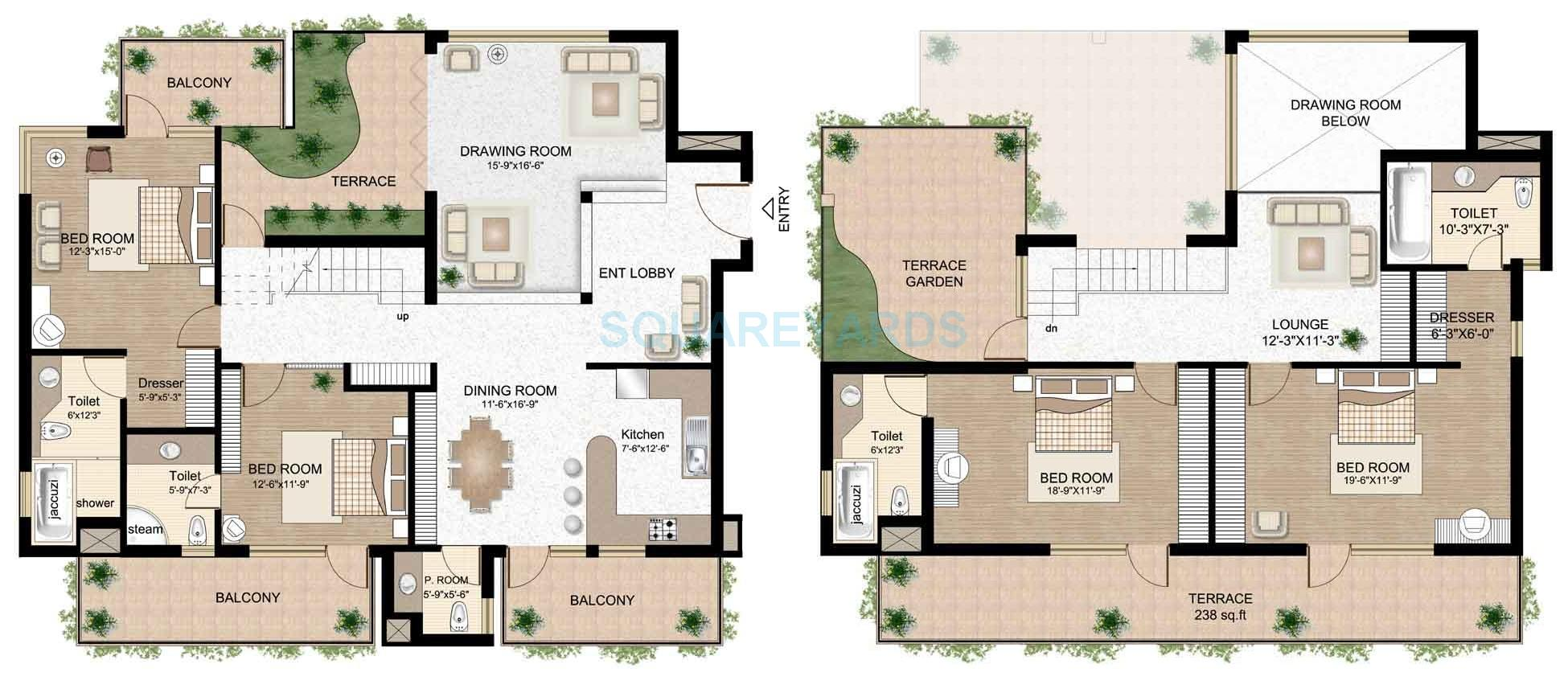 Raheja atlantis in sector 31 gurgaon project overview unit plans price trend - Lay outs penthouse ...