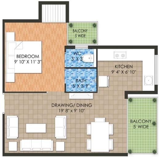 raheja krishna housing scheme apartment 1bhk 426sqft 20200501120507