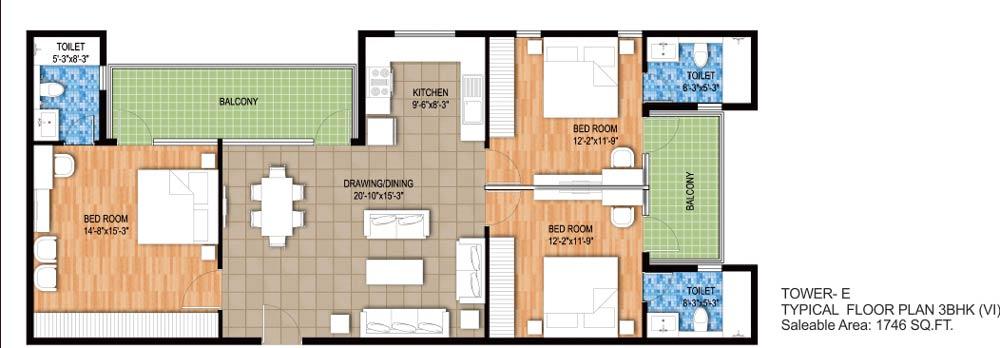 raheja maheshwara apartment 3bhk 1746sqft 1