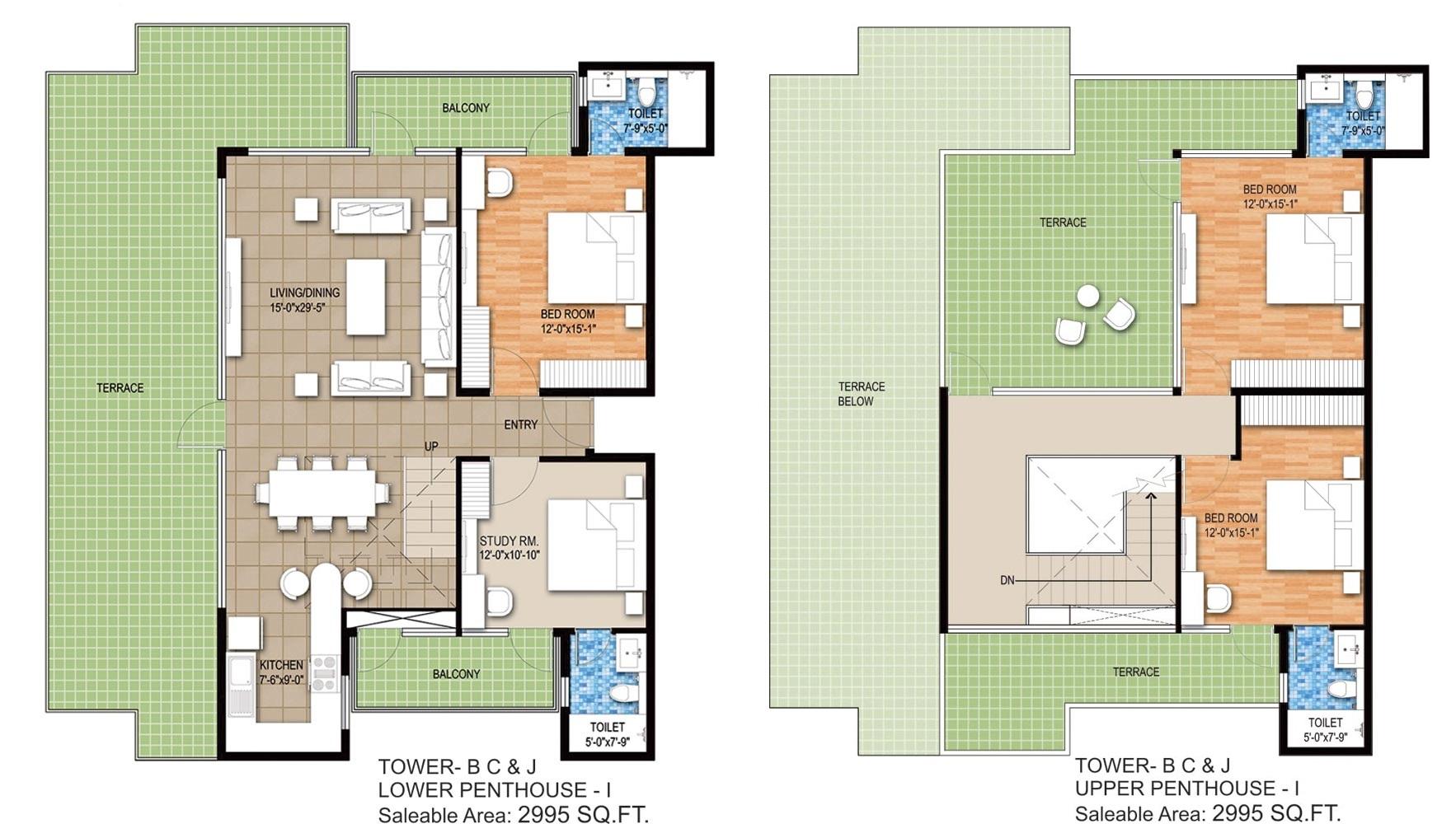 raheja maheshwara apartment 3bhk 2995sqft 1
