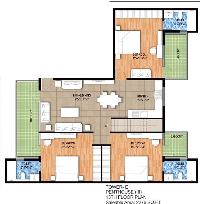 raheja maheshwara penthouse 4bhk 2276sqft 1