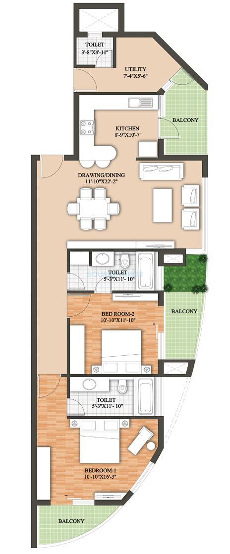 raheja revanta surya tower apartments apartment 2bhk iii tower a c 1854sqft 1