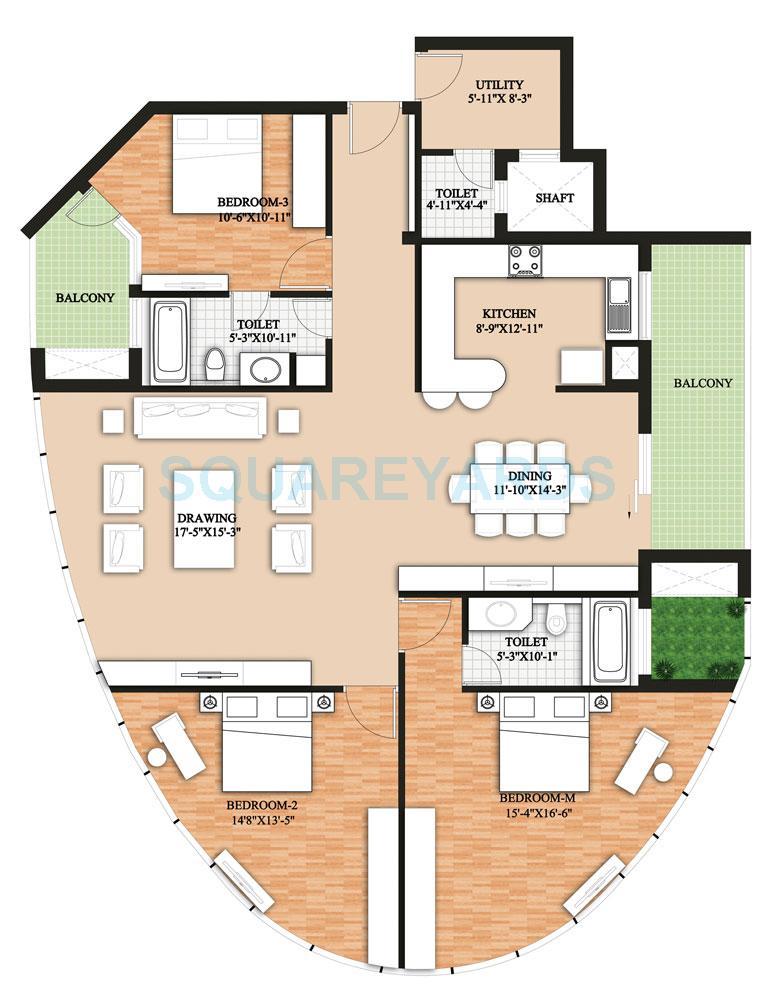 raheja revanta surya tower apartments apartment 3bhk v tower a c 2457 22sqft 1