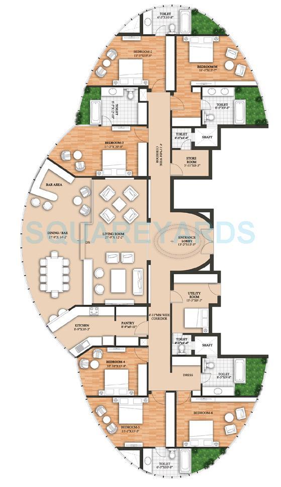 raheja revanta surya tower apartments apartment 6bhk tower b 4960 98sqft 1