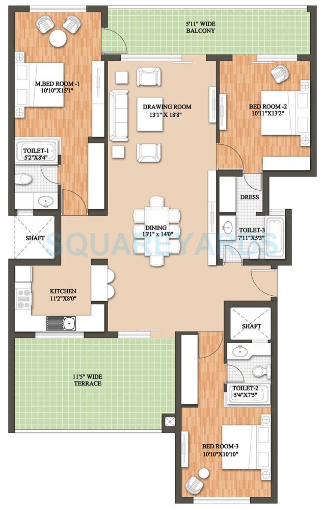 raheja revanta tapas townhouse builder floor 3bhk sf 2073 5sqft 1