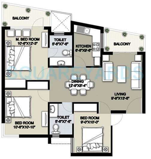 raheja shilas apartment 3bhk 1302sqft 1