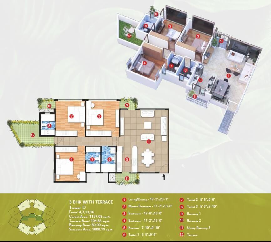 raheja vanya apartment 3bhk 1808sqft 1