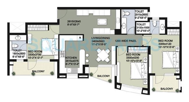 raheja vedaanta apartment 3bhk 1790sqft 1