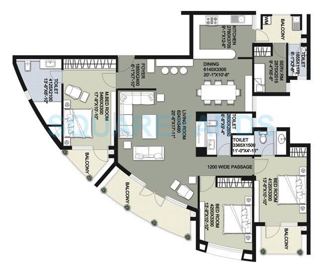 raheja vedaanta apartment 3bhk 2490sqft 1
