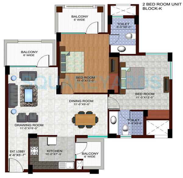 ramprastha edge towers apartment 2bhk 1310sqft 1