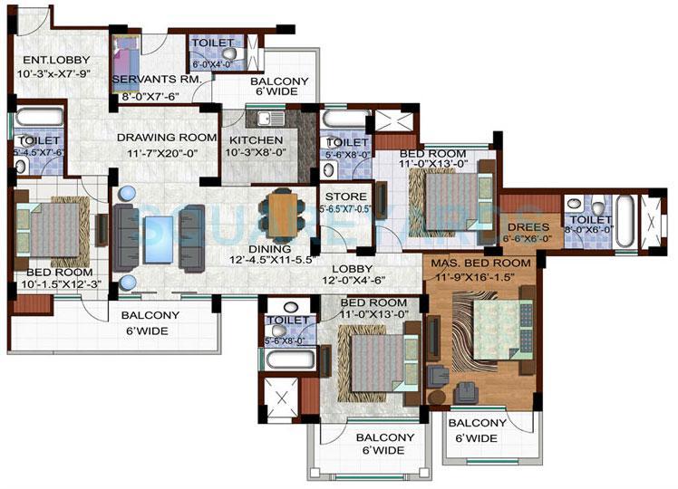 ramprastha edge towers apartment 4bhk 2390sqft 1