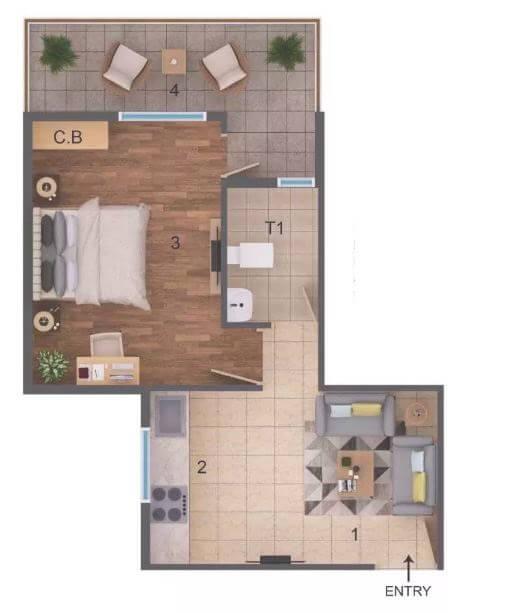 rof amaltas apartment 1bhk 326sqft 1