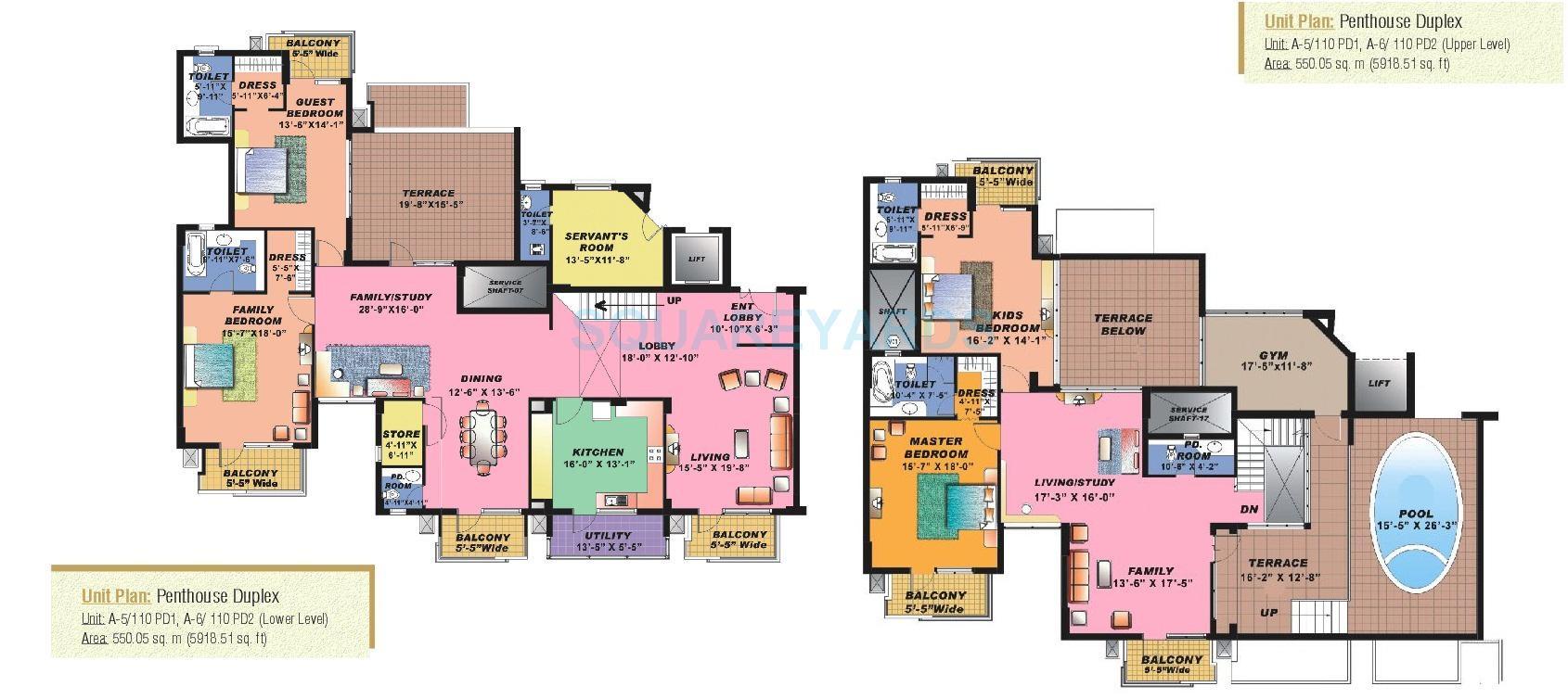 sahara grace gurgaon penthouse 4bhk sq 5919sqft 1