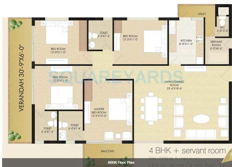 sare club terraces apartment 4bhk sq 2349sqft 1