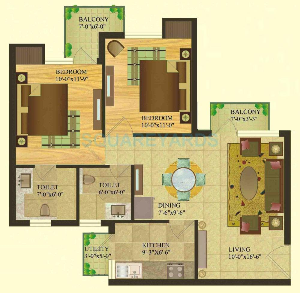sare crescent parc royal greens phase i apartment 2bhk 950sqft 1