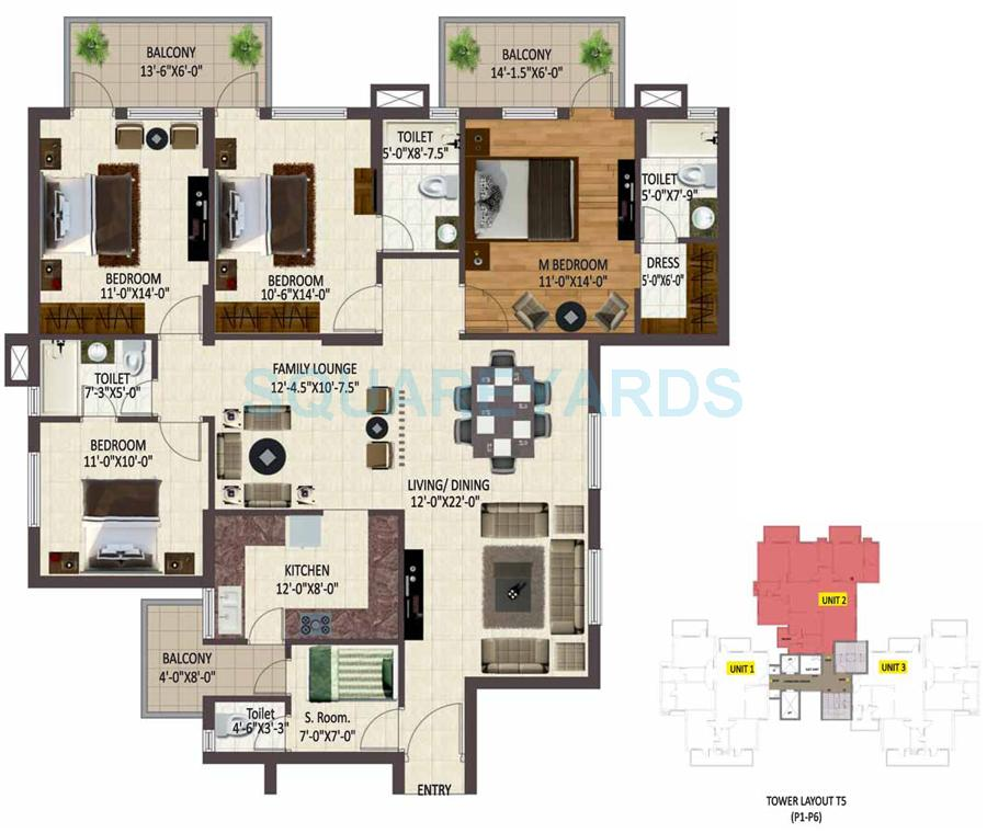sare petioles apartment 4bhk sq 2093sqft 1