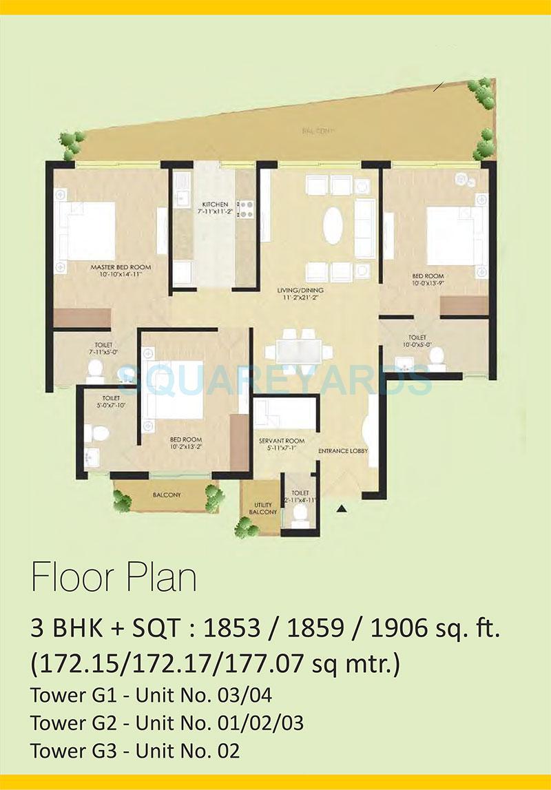sare the grand apartment 3bhk 1853sqft 1