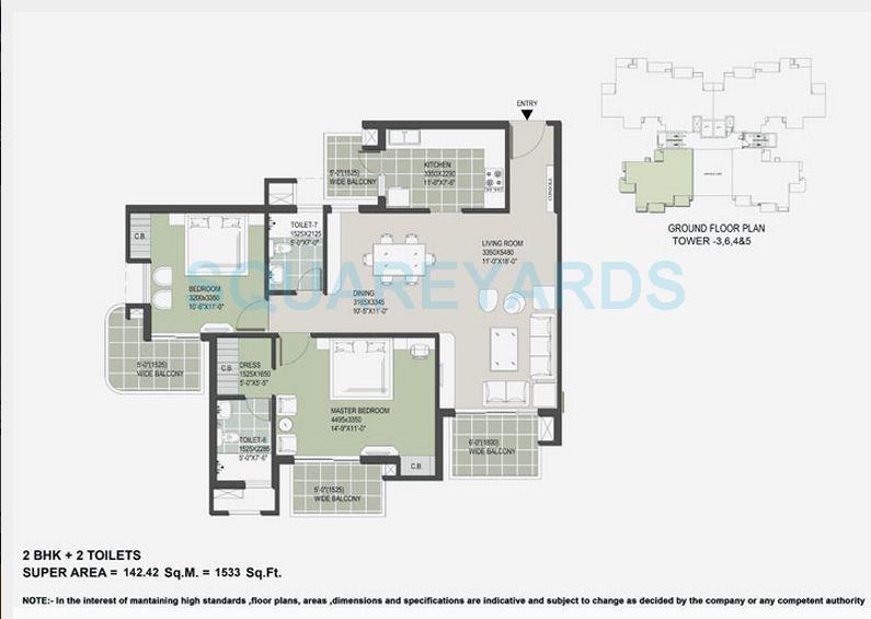 satya the hermitage apartment 2bhk 1533sqft 1