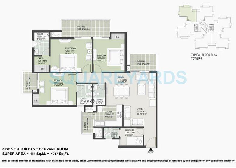 satya the hermitage apartment 2bhk sq 1947sqft 1