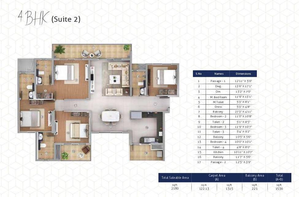 shapoorji pallonji joyville gurgaon apartment 4 bhk 1315sqft 20211504131529