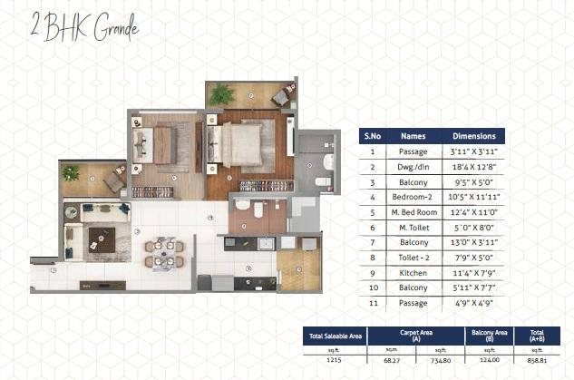 shapoorji pallonji joyville phase 3 apartment 2 bhk 1215sqft 20212613172643