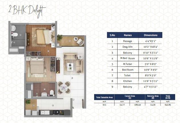shapoorji pallonji joyville phase 3 apartment 2 bhk 915sqft 20212613172649