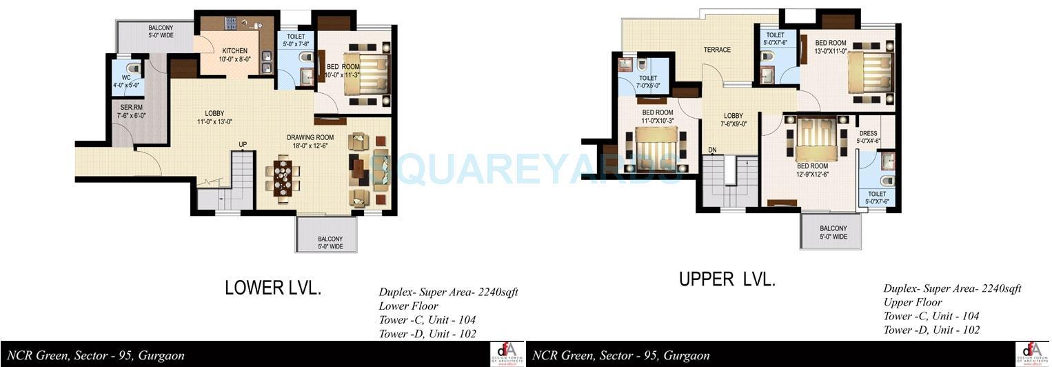 sidhartha ncr green apartments duplex apartment 4bhk 2240sqft 1